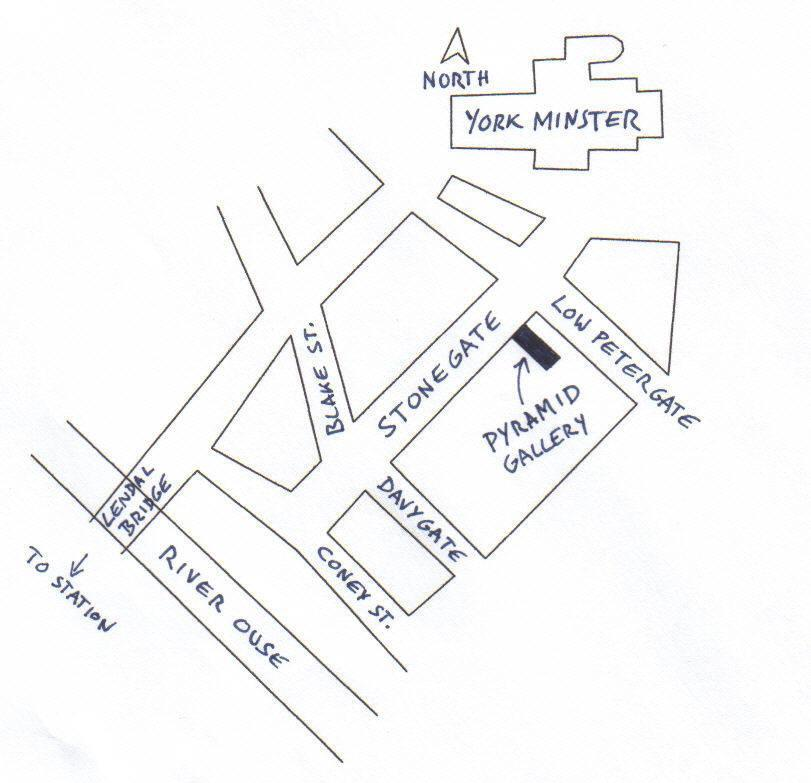Pyramid Gallery Location Map