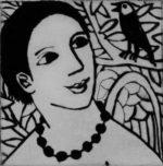 Angel listening by Anita Klein