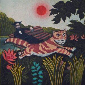 Print-Mychael Barratt-Van Gogh's Cat