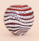 Red Glacier blown glass sculpture by Peter Layton 225