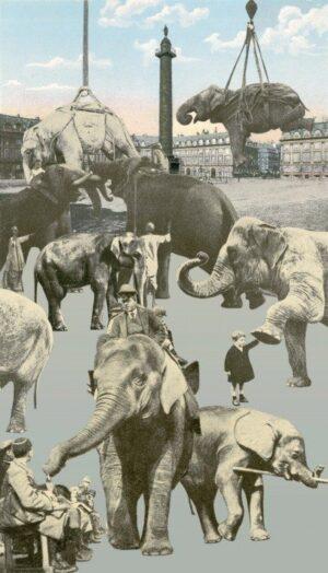 Paris Elephants screenprint by Peter Blake