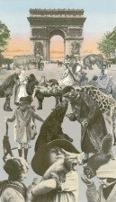 Paris- Women With Their Pets signed limited edition silkscreen print by pop artist Sir Peter Blake