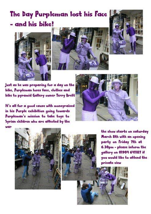 Pyramid Gallery owner Terry Brett steals Purpleman's image