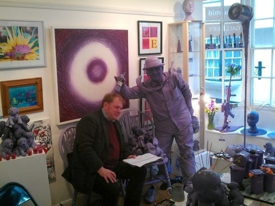 Charles Hutchinson of York Press gets the purple brush