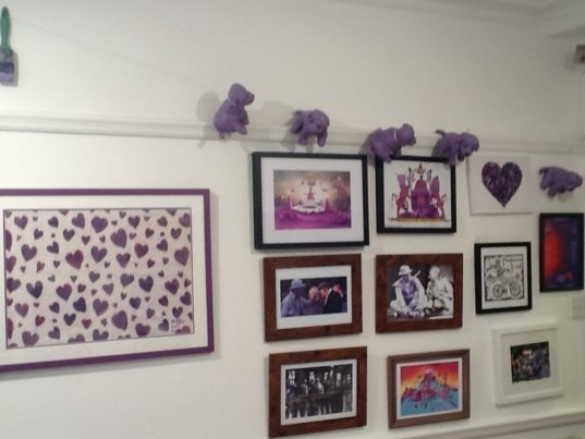 Hanging for Purpleman Exhibition