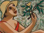 Image size 398 x 300mm, original lino print on paper