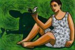 Image size 60 x 40 cm original lino print on paper