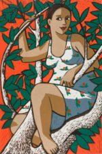 original lino cut print by London artist Anita Klein