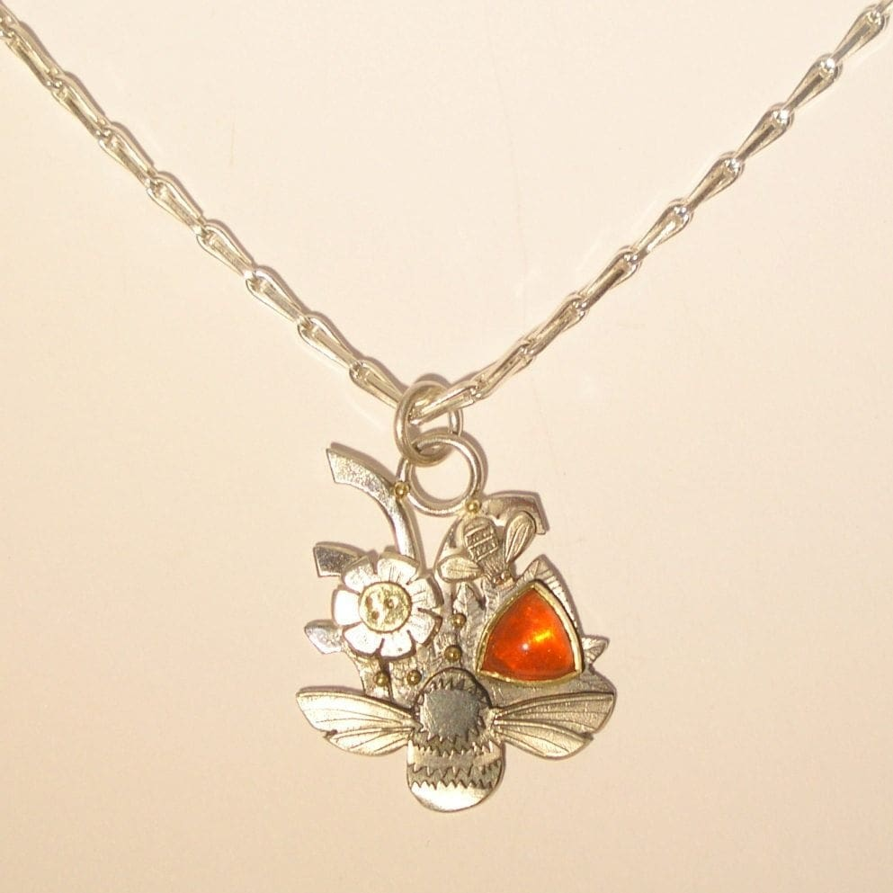 the fire opal necklace l mexican breath pendant dragons