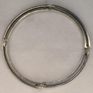 Silver articulated four link bracelet by Mark Peter Fraser