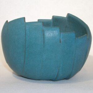 Cut Wave Bowl 1 ceramic by Richard Baxter.