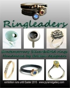 Pyramid Gallery annual exhibition of contemporary rings