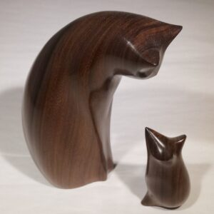 perry-lancaster-wood-cat-mouse-rose-sculpture