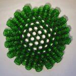 Recycled glass 'Bottleneck dish' by Suzanne Dekker