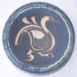 Stoneware bowl with sgraffito Bird design