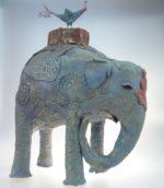 Mixed media ceramic by Pratima Kramer