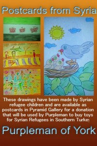 drawings by Syrian refugee children