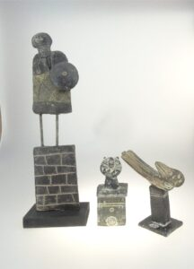 sculptures by John Maltby made i his 80th year
