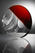 Cast glass sculpture by Fiaz Elson
