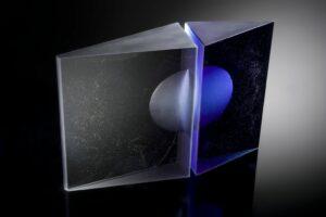 Cast glass sculpture by Fiaz Elson