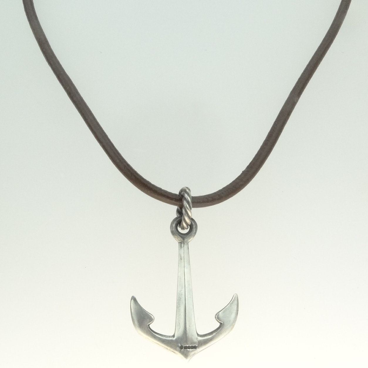 Silver anchor pendant by chris hawkins pyramid gallery silver anchor pendant aloadofball Images