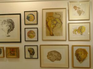 Selection of John Mills Lion paintings