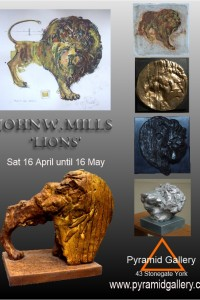 Exhibition of images and sculptures of the lion