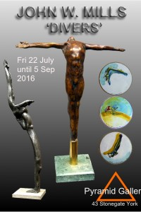 Exhibition opens 22 July, sculpture and drawings of Divers