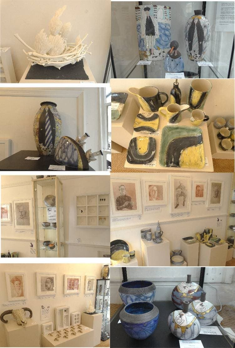 Preview of first hanging of Steve Huison portraits and ceramics by Jennie McCall, Rob Whelpton, Michelle Freemantle and Katie Pruden