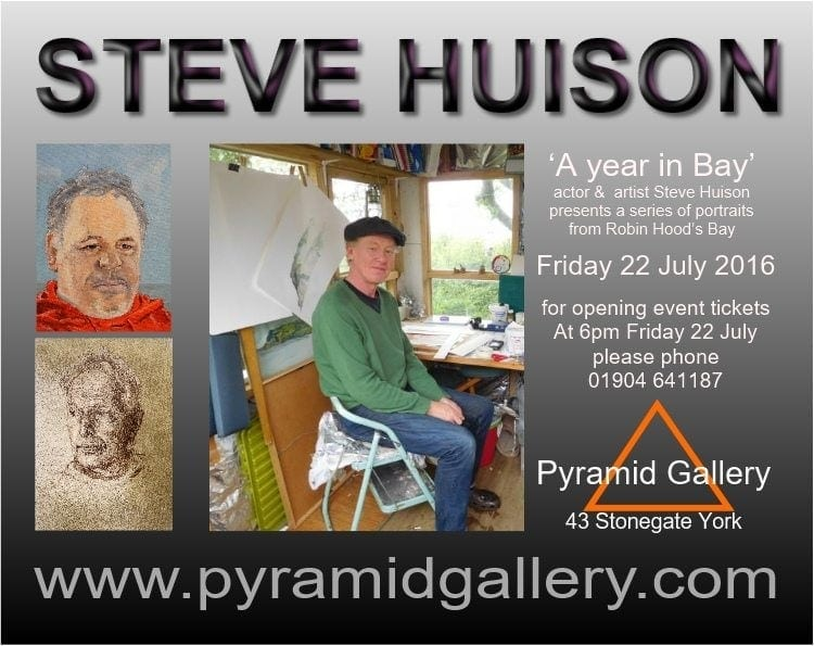 Actor Steve Huison celebrates the people he has met in Robin Hood's Bay in a series of portraits