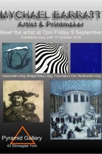 opens at 6.30pm Fri 9 September . Pyramid Gallery