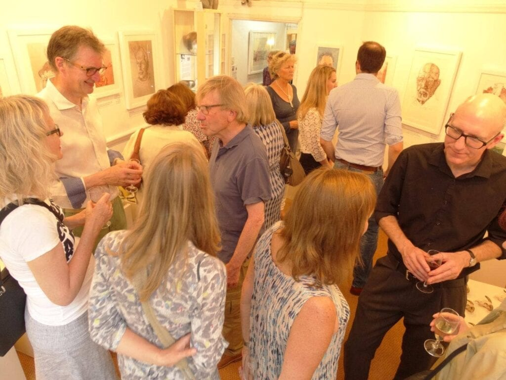 Exhibition open event of A Year In Bay, Steve Huison
