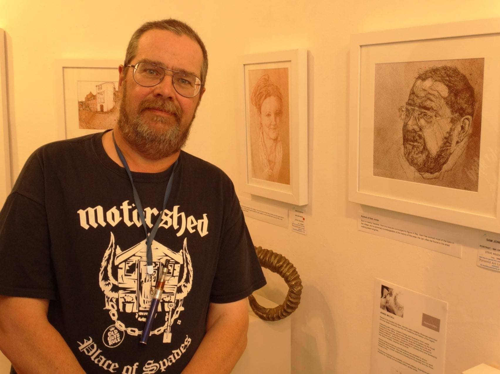 Bay resident Sam Jones with his portrait