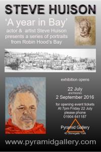 Actor and artist Steve Huison presents portraits of people he has met in Robin Hodd's Bay