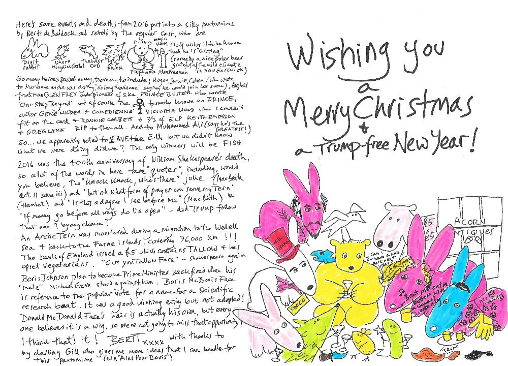 Christmas card inside - with explanation