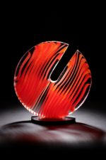 Cast optical glass sculpture by Colin Reed