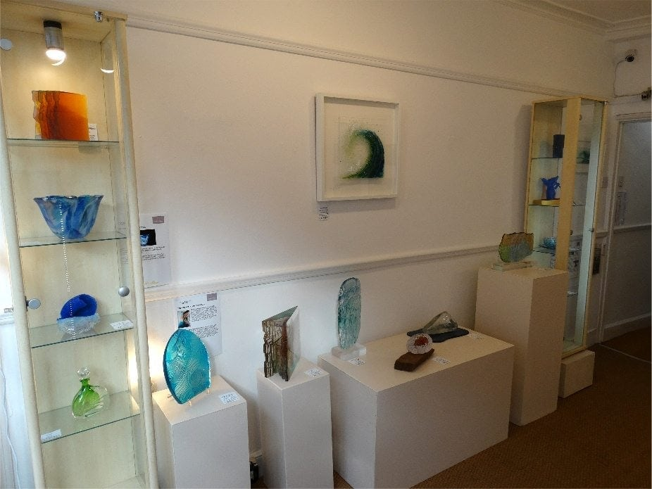 exhibition room at Pyramid Gallery for Water&Music exhibition April 2017