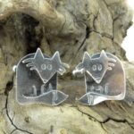 Silver cufflinks by Katie Stone