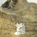 Silver Fox pendant necklace by Katie Stone