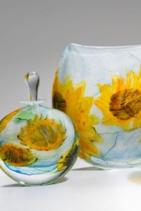 Sunflowers Glass by Peter Layton