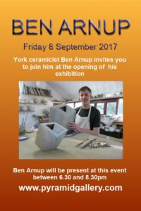 Ben Arnup exhibition opens fri 8 sept 2017 at 6.30pm