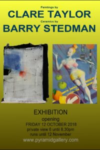 Exhibition opens Friay 12 October 2018
