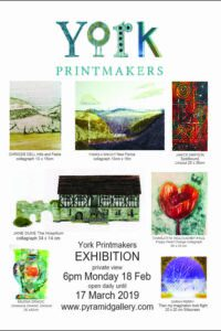 Twenty members of York Printmakers are exhibiting at Pyramid Gallery