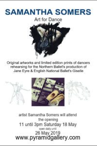 Northern Ballet and English National Ballet rehearsals captured in drawing s by Samantha Somers