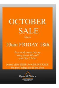 Sale starts Friday Oct 18th 2019