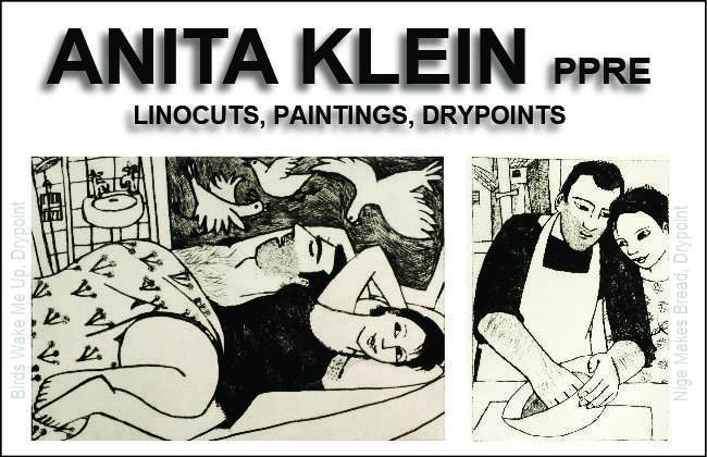 Anita Klein linocuts, paintings and drypoint prints – Exhibition