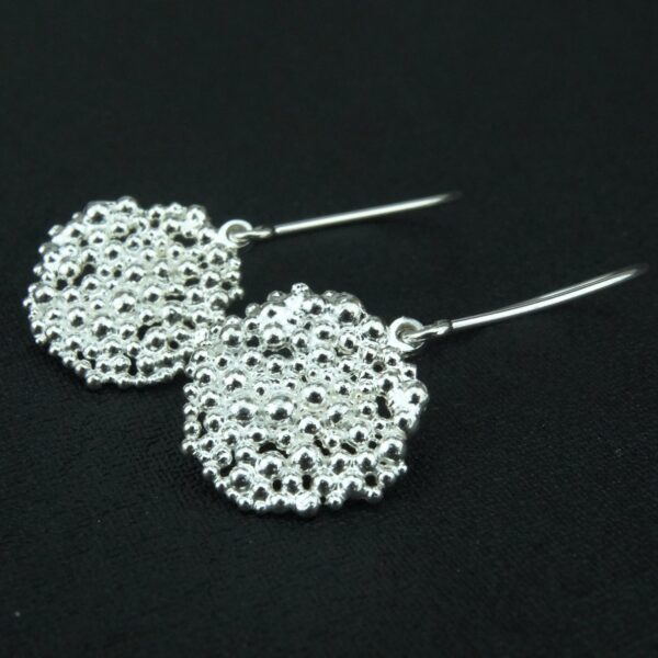 Silver Berry drop earrings