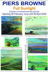 Full Sunlight- an exhibition of paintings and etchings by Wensleydale artist PIERS BROWNE