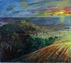 Evening Star Oil on board by Piers Browne