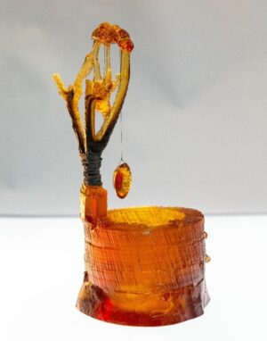 cast glass scilpture